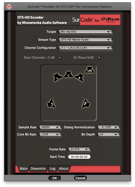 SurCode Encoder for DTS-HD for Compressor